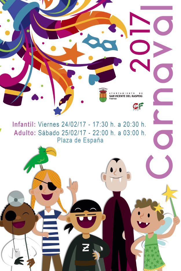 Programa Actos #FiestasSVR Carnavales de San Vicente del Raspeig 2017