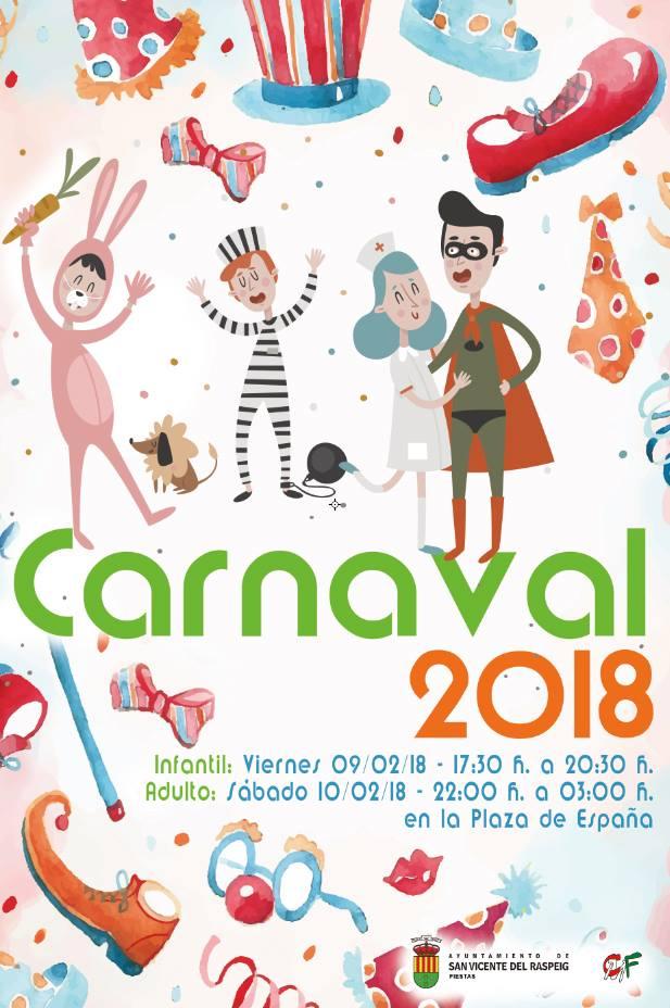 #FiestasSVR Programa Carnavales San Vicente del Raspeig 2018